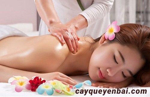 tinh dầu quế sử dụng để massage, rất tốt cho da