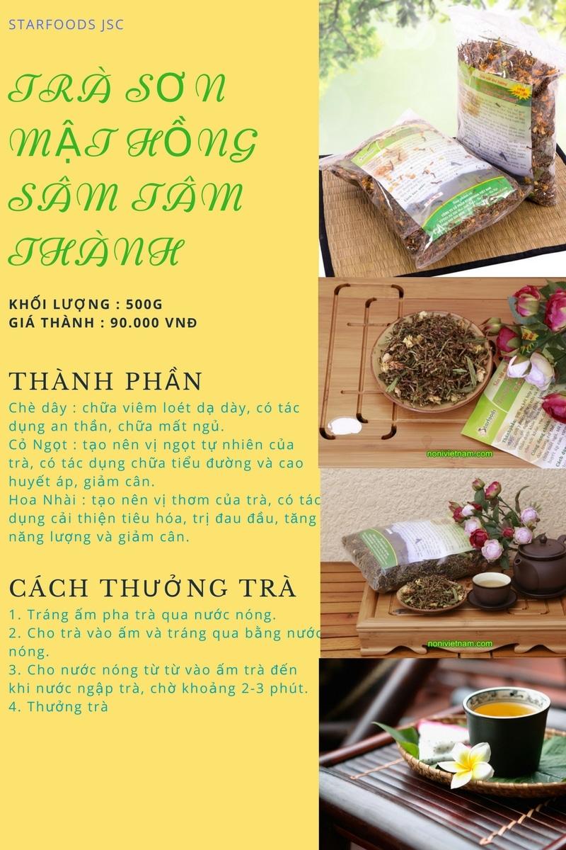 Cách chọn Trà Sơn Mât Hồng Sâm 4